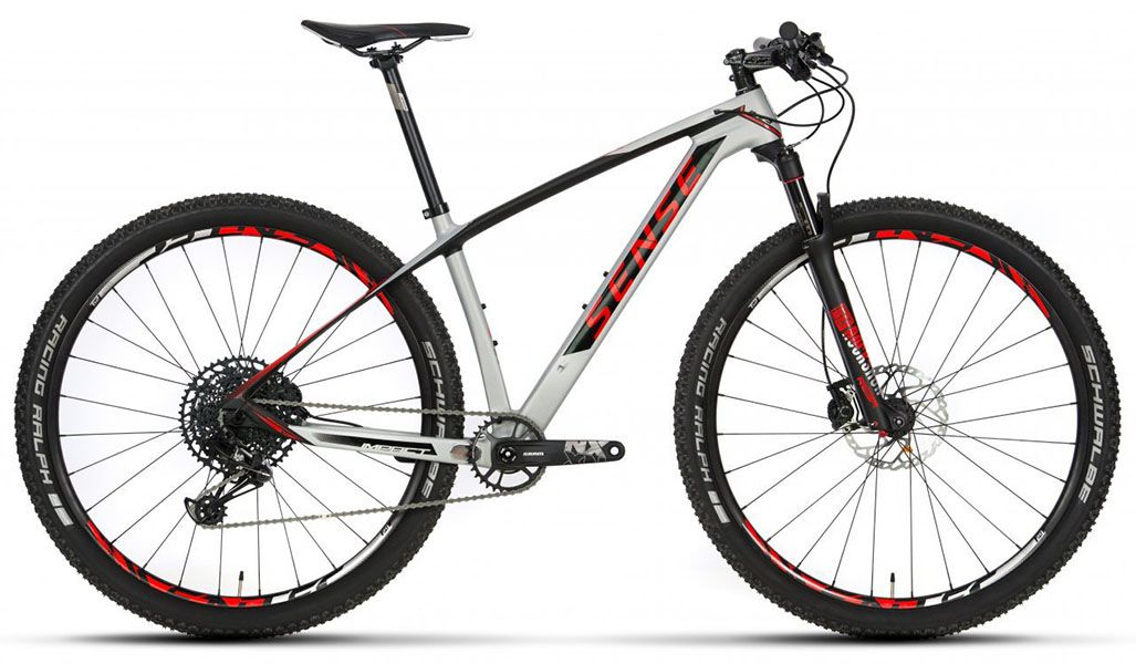 Bicicleta Sense - Impact Carbon Comp - Branco + Brinde