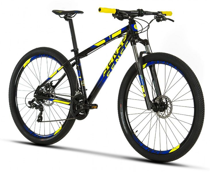 Bicicleta Sense One - 2019 - Preta / Amarela / Azul