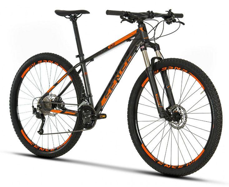 Bicicleta Sense Rock Evo - 2019 - Cinza / Laranja + Brinde