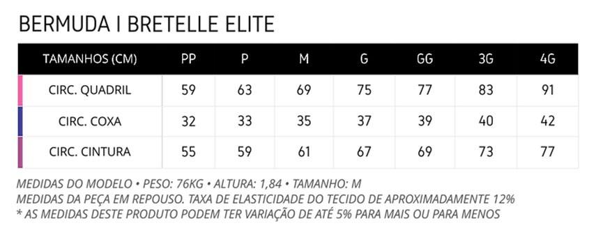 Bretelle ERT - Elite - Preto