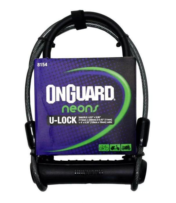 Cadeado Onguard U-Lock - Neon C/ Cabo de Aço