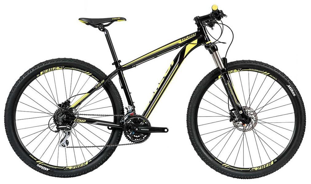 Bicicleta Caloi - Explorer Comp 2018 - Preta / Amarela + Brinde