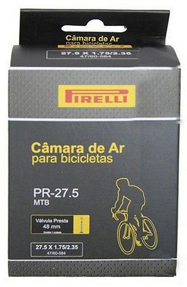 Câmara de Ar - Pirelli PR-27,5 - 1.75/2.35 - F/V - 48 mm