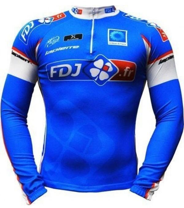 Camisa ERT - FDJ - ML - Azul