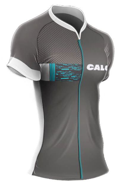 Camisa Mauro Ribeiro - Caloi City Tour Sport - Cinza / Azul - Feminina