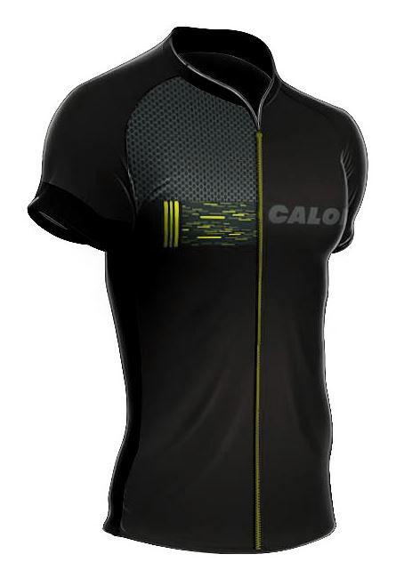 Camisa Mauro Ribeiro - Caloi City Tour Sport - Preta / Amarela