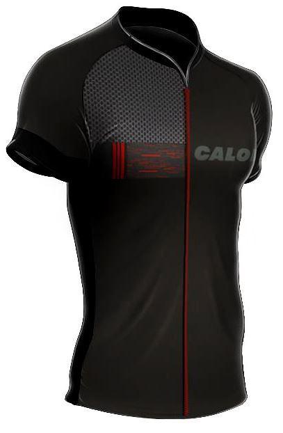 Camisa Mauro Ribeiro - Caloi City Tour Sport - Preta / Vermelha