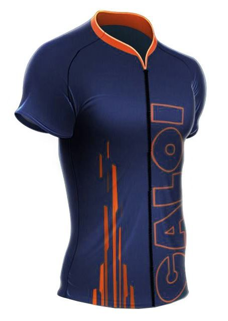Camisa Mauro Ribeiro - Caloi Explorer Sport - Azul / Laranja