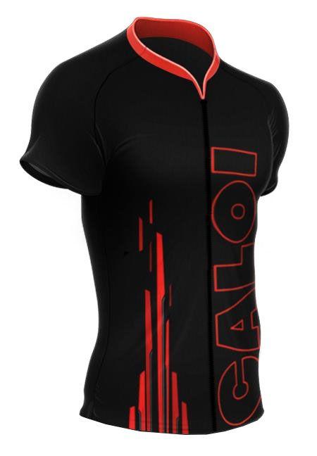 Camisa Mauro Ribeiro - Caloi Explorer Sport - Preta / Vermelho