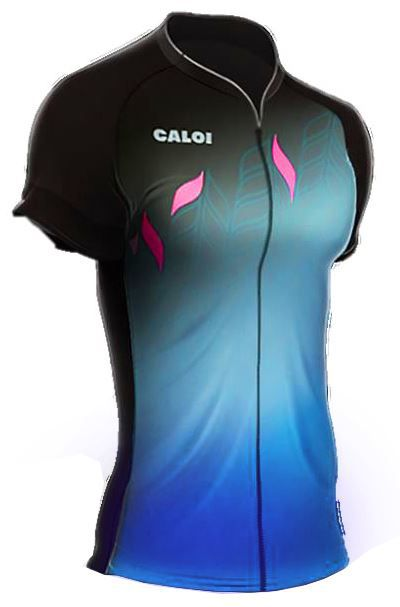 Camisa Mauro Ribeiro - Caloi Kaiena Sport - Preta / Azul - Feminina