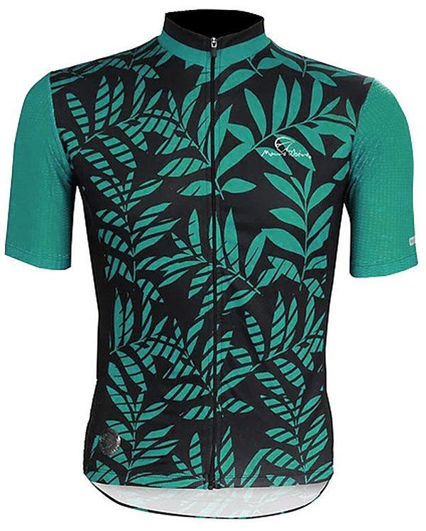 Camisa Mauro Ribeiro - Tropical - Preta / Verde