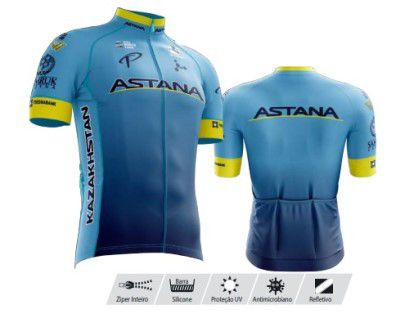 Camisa Refactor Tour de France Astana Azul