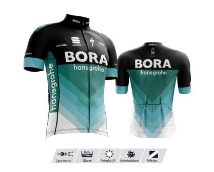 Camisa Refactor Tour de France Bora Preta