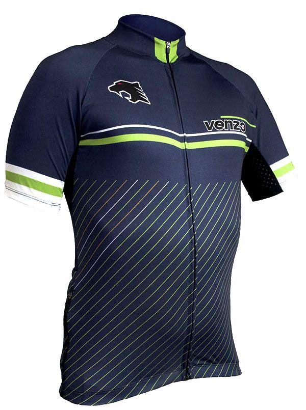 Camisa Refactor - Venzo Viper - Azul Marinho / Verde / Branco
