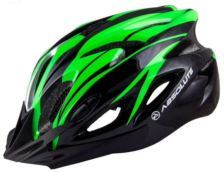 Capacete Absolute - Nero WT012 - Preto / Verde - Brilho