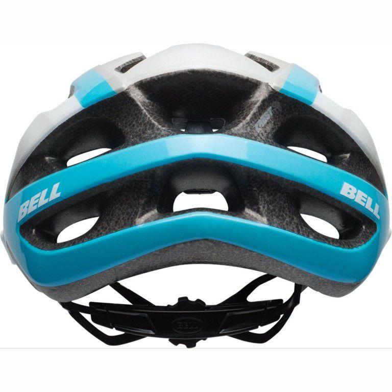 Capacete Bell - Crest-R - Branco / Azul / Prata - Brilhoso