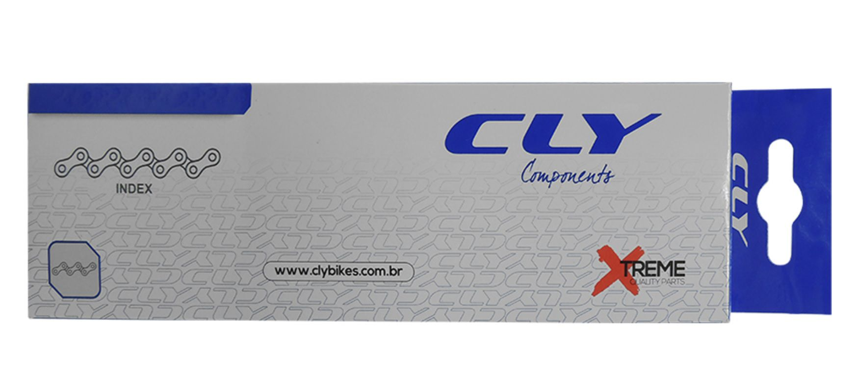 Corrente Cly Index 7/8v 1/2x3/32 - 116 Elos - Marrom