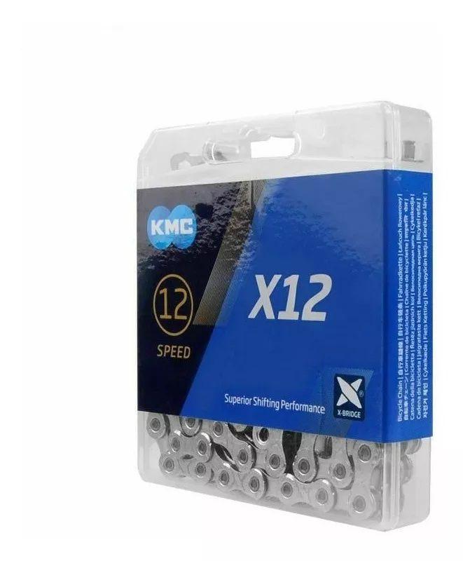 Corrente KMC - X12 - 12v - Prateado