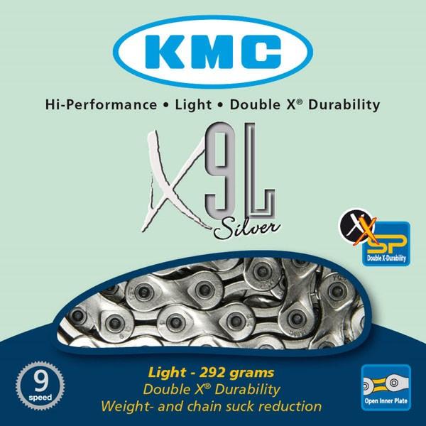 Corrente KMC - X9L - 9v - Prata