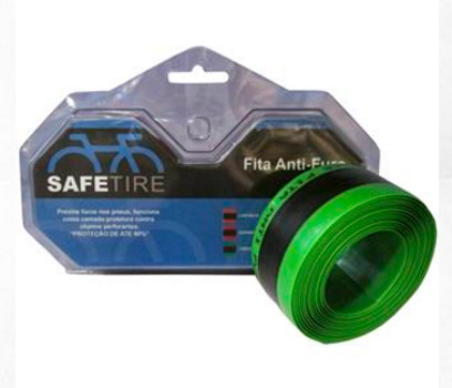 Fita Anti-Furo Safetire - 26, 27,5 e 29 - Verde - 2 unidades