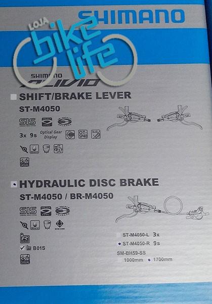 Freio / Alavanca Shimano - Alívio M4050 - Integrado - Hidráulico