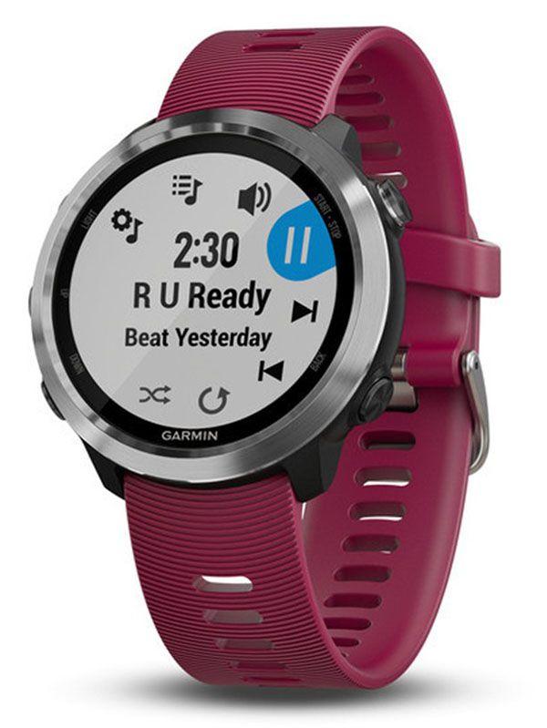 Garmin Forerunner - 645 Music - Smartwatch GPS - Multiesportivo - Prata / Cereja