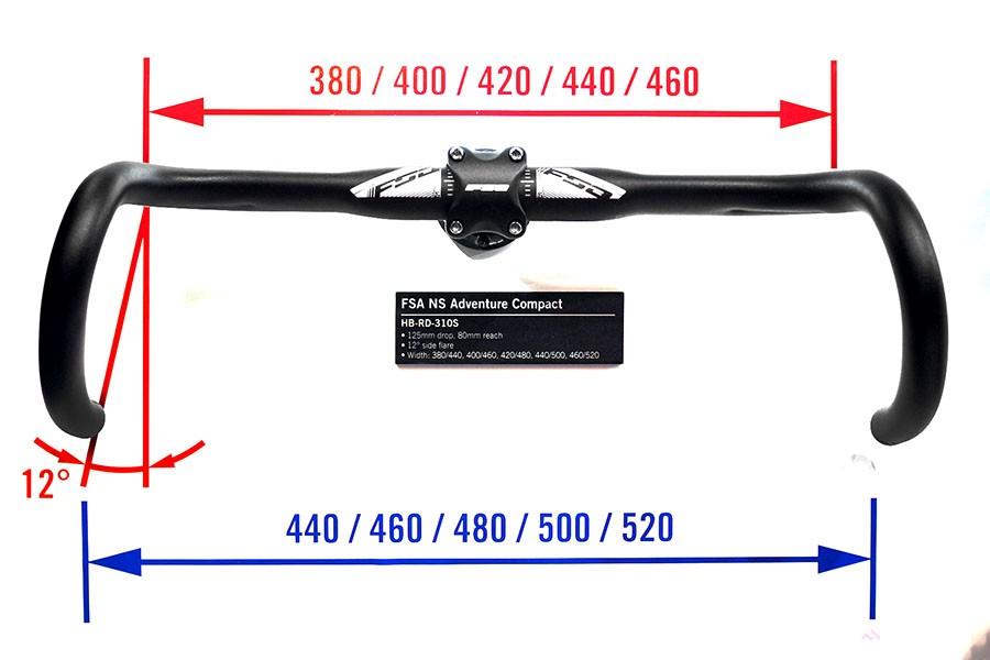 Guidão FSA - Adventure - 31.8 mm - Alumínio - Compacto - Bike Alive