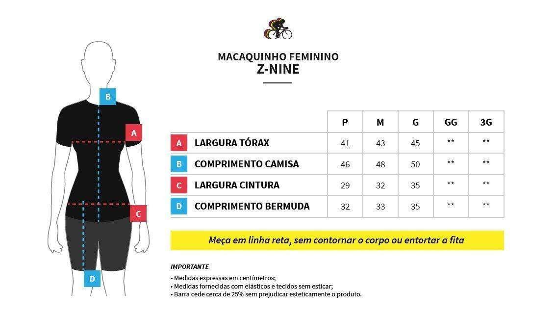 Macaquinho Feminino Z-nine - Preto / Branco