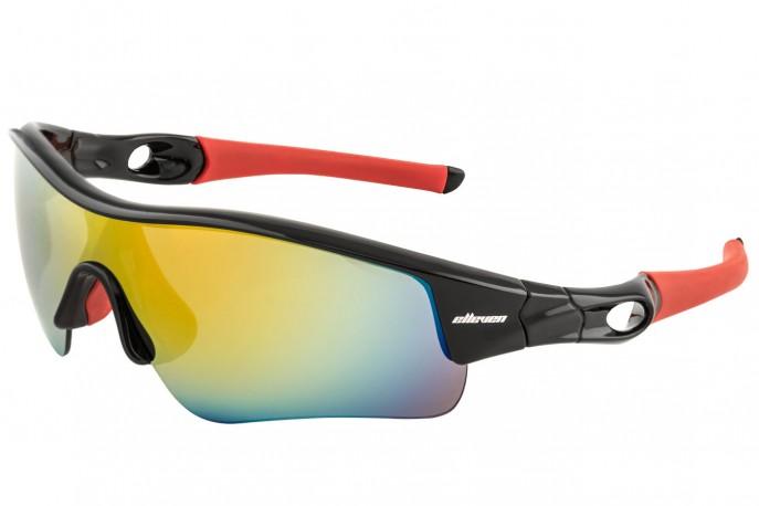 Óculos Elleven Mask - Preto C/ Vermelho