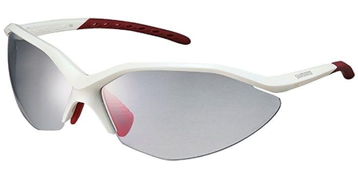 Óculos Shimano - CE-S52R-PH - Fotocromático - Branco / Vermelho