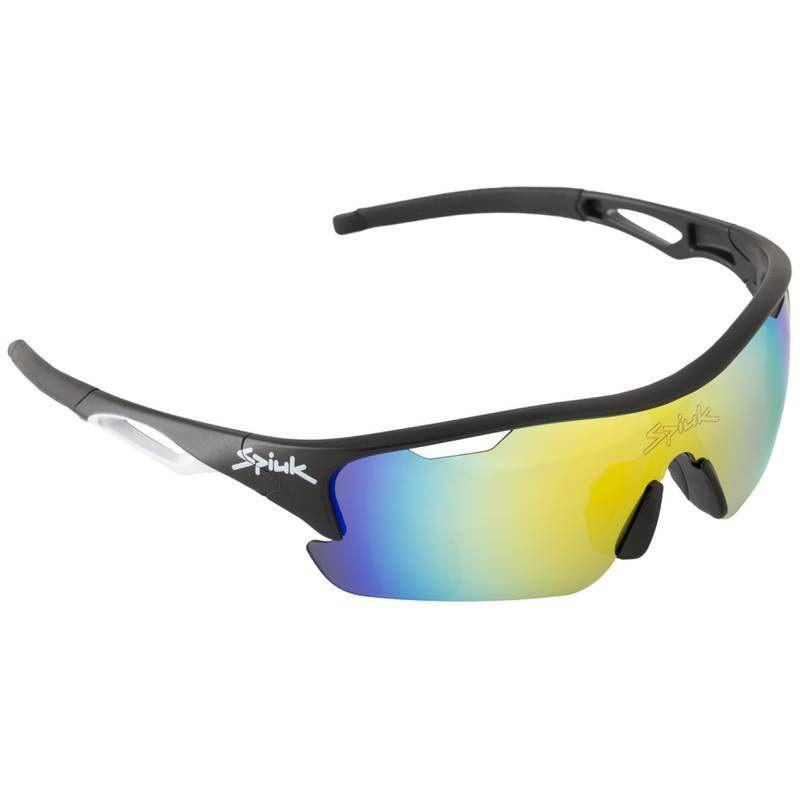Óculos Spiuk - Jifter Lente Laranja Espelhada - Armação Preta/Branca