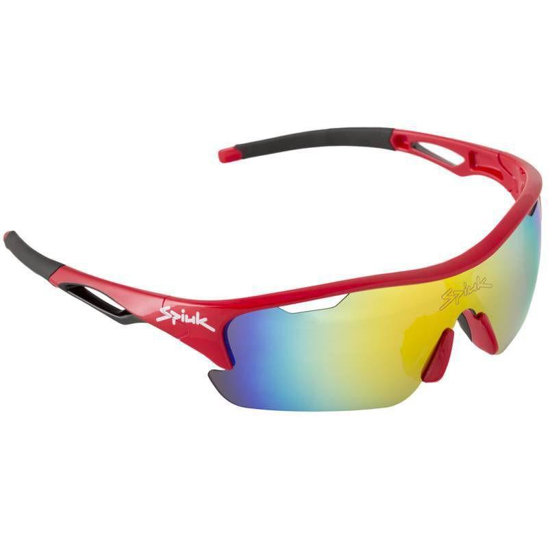 Óculos Spiuk - Jifter Lente Laranja Espelhada - Armação Vermelho/Preto