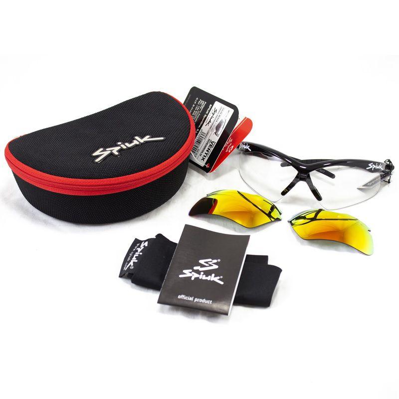 Óculos Spiuk - Ventix Lente Lumiris II - Armação Preta