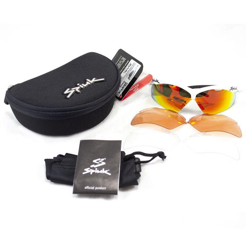 Óculos Spiuk - Ventix Lente Vermelha Espelhada - Armação Branca