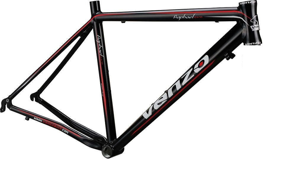 Quadro Venzo - Raphael - Preto / Vermelho - 54 x 54 (SEM GARFO)