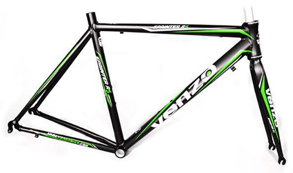 Quadro Venzo - Sprinter R5 - Preto / Verde - 54 x 54