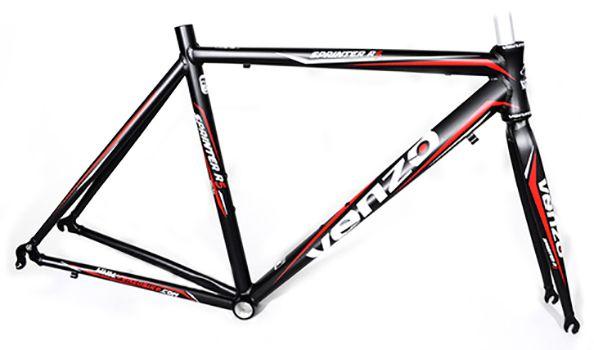 Quadro Venzo - Sprinter R5 - Preto / Vermelho - 56 x 56