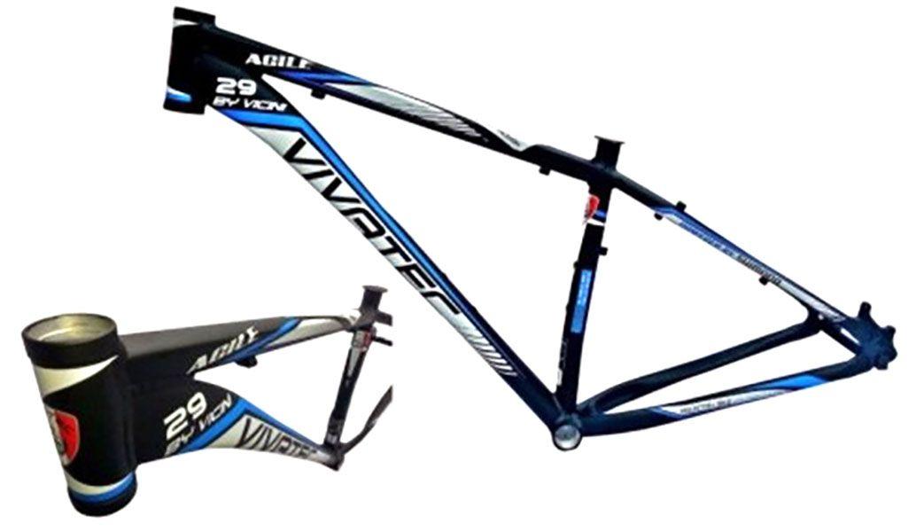 Quadro Vivatec - Agile Vicini - 29 x 16.5 - Preto / Azul / Branco