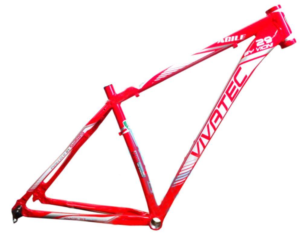 Quadro Vivatec - Agile Vicini - 29 x 18.5 - Vermelho / Branco