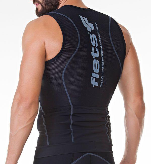 Regata Flets Multisport Triathlon - Masculina - Preta
