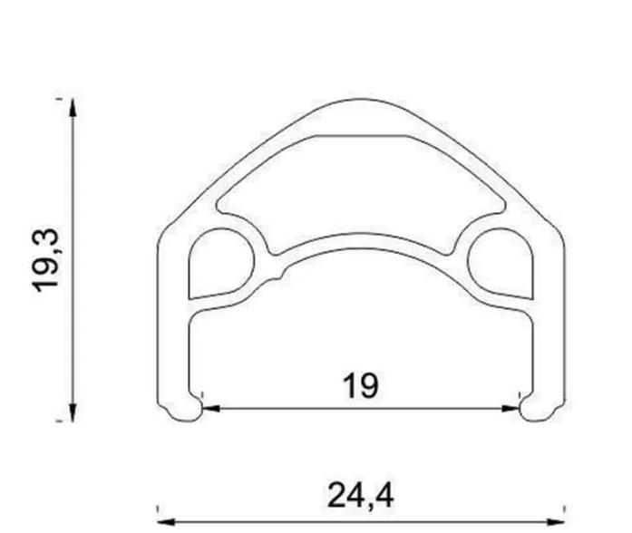 Roda Vzan - Overhill 26'' - Center Lock - 32f