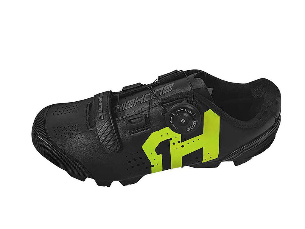 Sapatilha High One - MTB Lock - Preto / Verde Neon