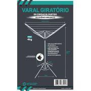 VARAL GIRATÓRIO ALUMÍNIO BRANCO BÍ-PARTIDO  09 CORDAS