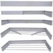 Varal Mágico 5 varetas em alumínio 1,00m retrátil flexível