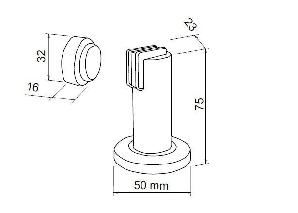 Fixador de porta magnético longo Imab
