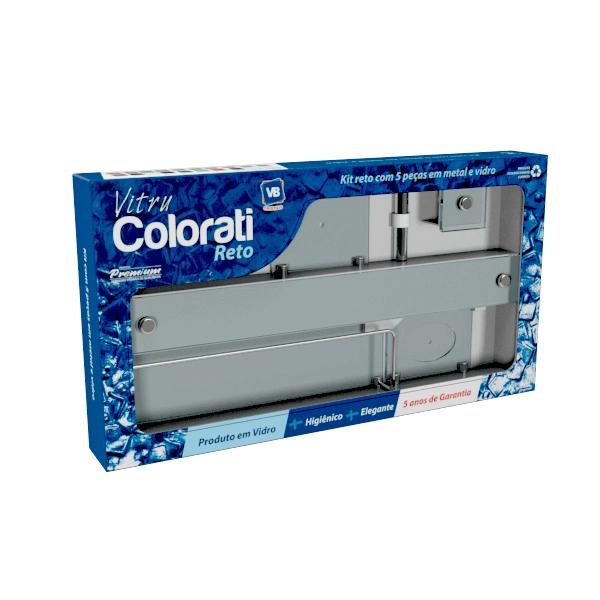 Kit de acessórios para banheiro de vidro Vitru Colorati Incolor