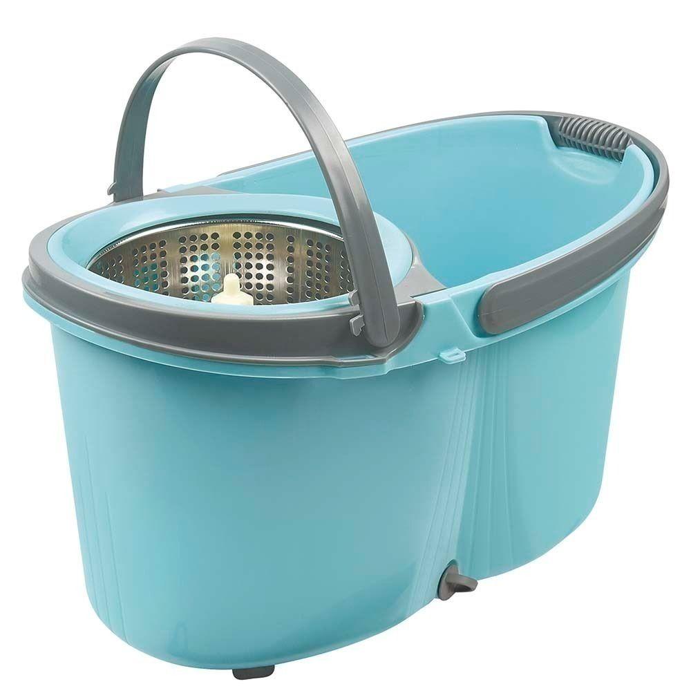 Mop esfregão com rodinhas com balde inox removível - Mor