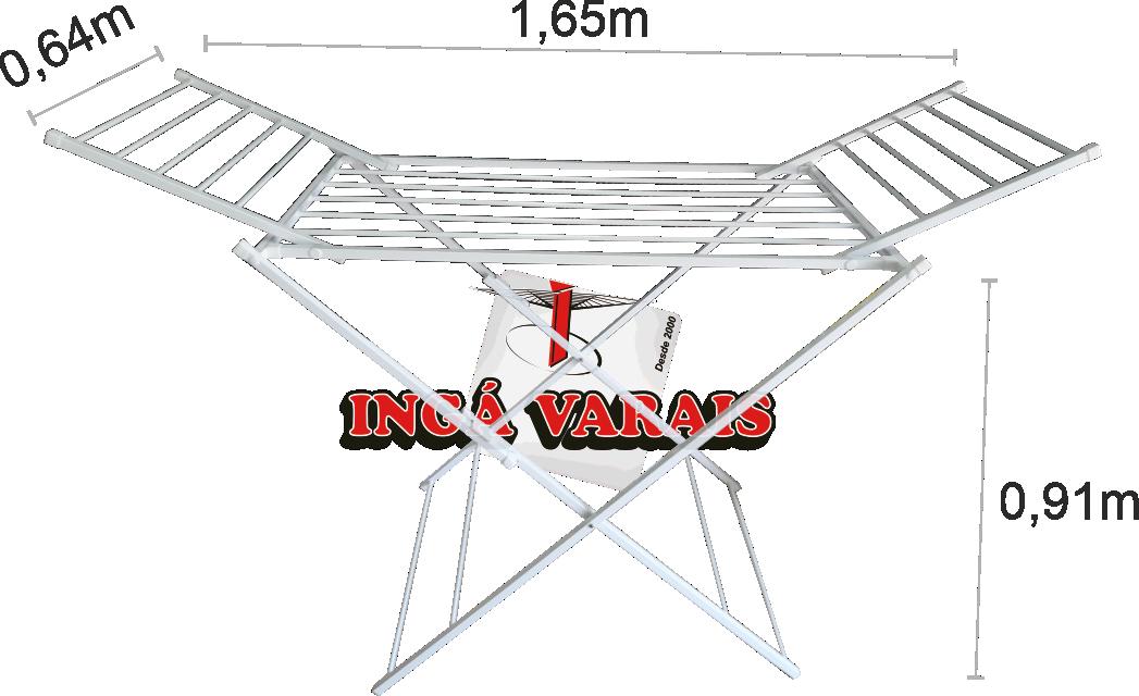 Varal de Chão com Abas Luxo Premium - Multivarais