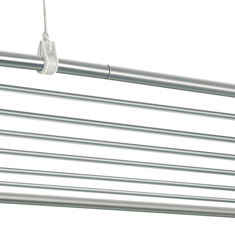 Varal de Teto 150x075 Alumínio 10 Varetas-15M lineares