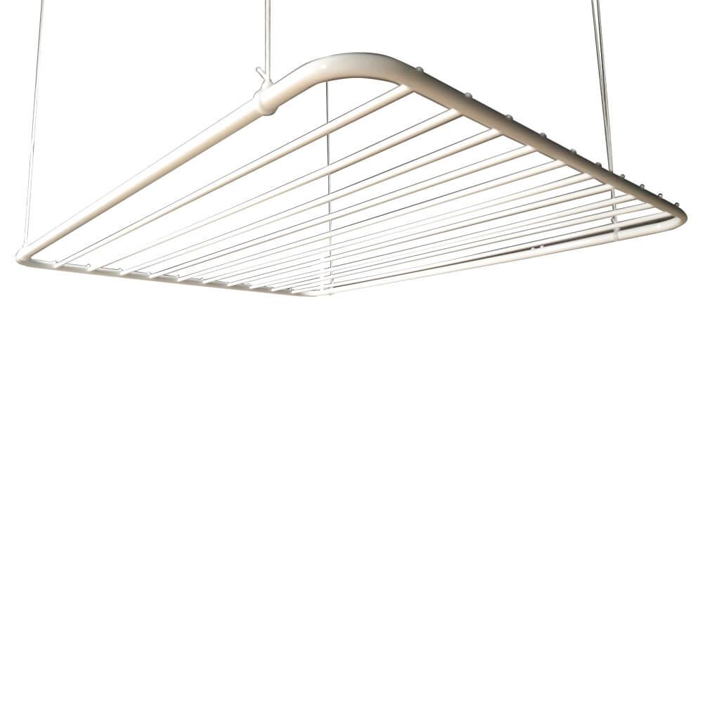 Varal de teto em alumínio branco 150x075 10 varetas - Multivarais